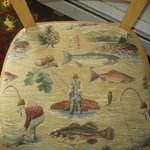 Cute interior and fabrics in the room - Fishing Chairs and Hunting Rug