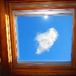 just a funny photo of one of the skylights - after 2 days of rain i could finally see the sky ri
