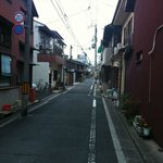 quiet street (near to Kyoto train station)