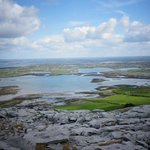 View from the walk in the Burren
