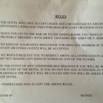 hotel rules anticipate you will get into a fight with drunks (and you will)