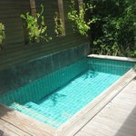 private pool in shupa villa