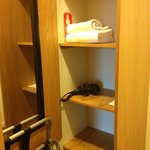  Closet area with a powerful hairdryer