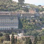 View of the hotel from Sorrento