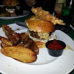 Amazing Steakhouse Burger! Loved the melted bourbon cheese! And that fried pickle! Yum!
