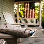 Classic porch to read your morning news and drink a cup
