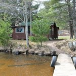 Rustic but VERY COMFORTABLE LOG CABINS 15' from shore with your own boat dock!