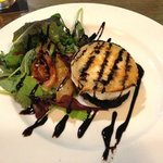 goats cheese on portobello mushroom