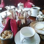  Silver service teas and coffee with a sea-view.