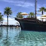 Pirate Ship Pool with Bucaneer restaurant