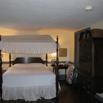 The Queen Anne room is a wonderfully romantic bedroom with a canopy bed.