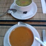 Tomato soup and Vegetable soup