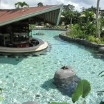  One of the pools with bar