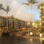  rainbow over the resort after a light shower
