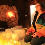 Crystal Bowl Healing Session in the Salt Therapy Cave