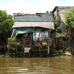 Housing along the Mekong