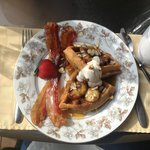 An example of a delicious breakfast served at the Chalet