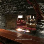Great Fireplace in the Lobby