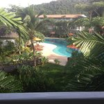 View of the pool from my room
