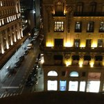 Looking out on 5th Avenue at Night