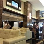 Another side of the hotel reception lobby