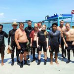 our diving crew with some of our guests.