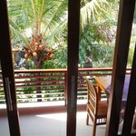 view from our bed...great place to have breakfast!