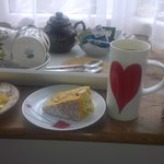 tea and cake on arrival