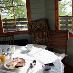 Breakfast in the gazebo
