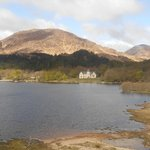 view of hotel from Glenfinnan monument