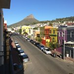 Nice view of  Bo Kaap and the mountain