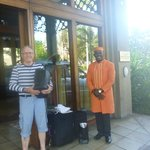 The doorman who was most helpful and efficient helping us with the luggage etc.,