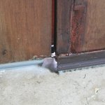 Big gaps under doors letting the ants in