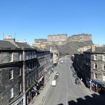 This is a view from the window of my room at The Point Edimburg.