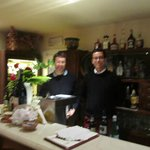 Valerio and his servant in the bar