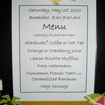 Personalized breakfast menu updated daily