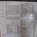 Not-so-reasonable prices on minibar menu!