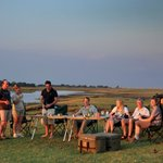 Sunset drinks by the Chobe River