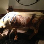 Bull from the lobby area