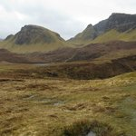 Walking The Quiraing, a few miles behind Seabound B&B