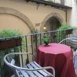 Little patio outside the Borromini Room where you can sit to check email and surf the internet o