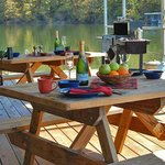 Enjoy a picnic lunch on our floating picnic area.