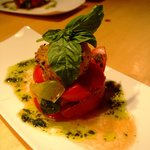 Heirloom tomato appetizer, Corporate Retreat