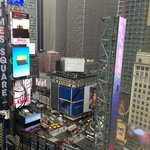 Partial vie of Times Square from Room