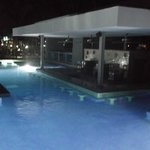 The pool bar at night