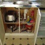 Kitchen utensils provided to all apartments