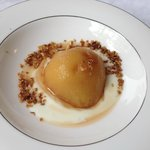 Poached pear to kickoff a breakfast