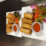 curry puff &spring roll