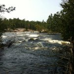 gorgeous five finger rapids just a 20min water taxi ride or 1hr and half canoe ride away