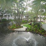 Center of the complex overlooking the koi pond
